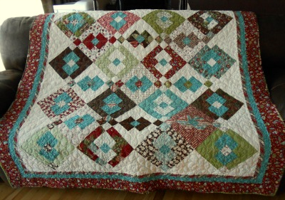Christmas quilt front