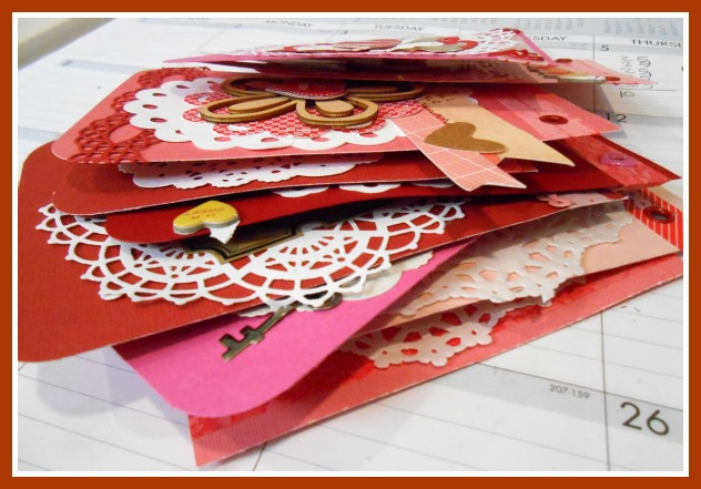 Piled up heart banner